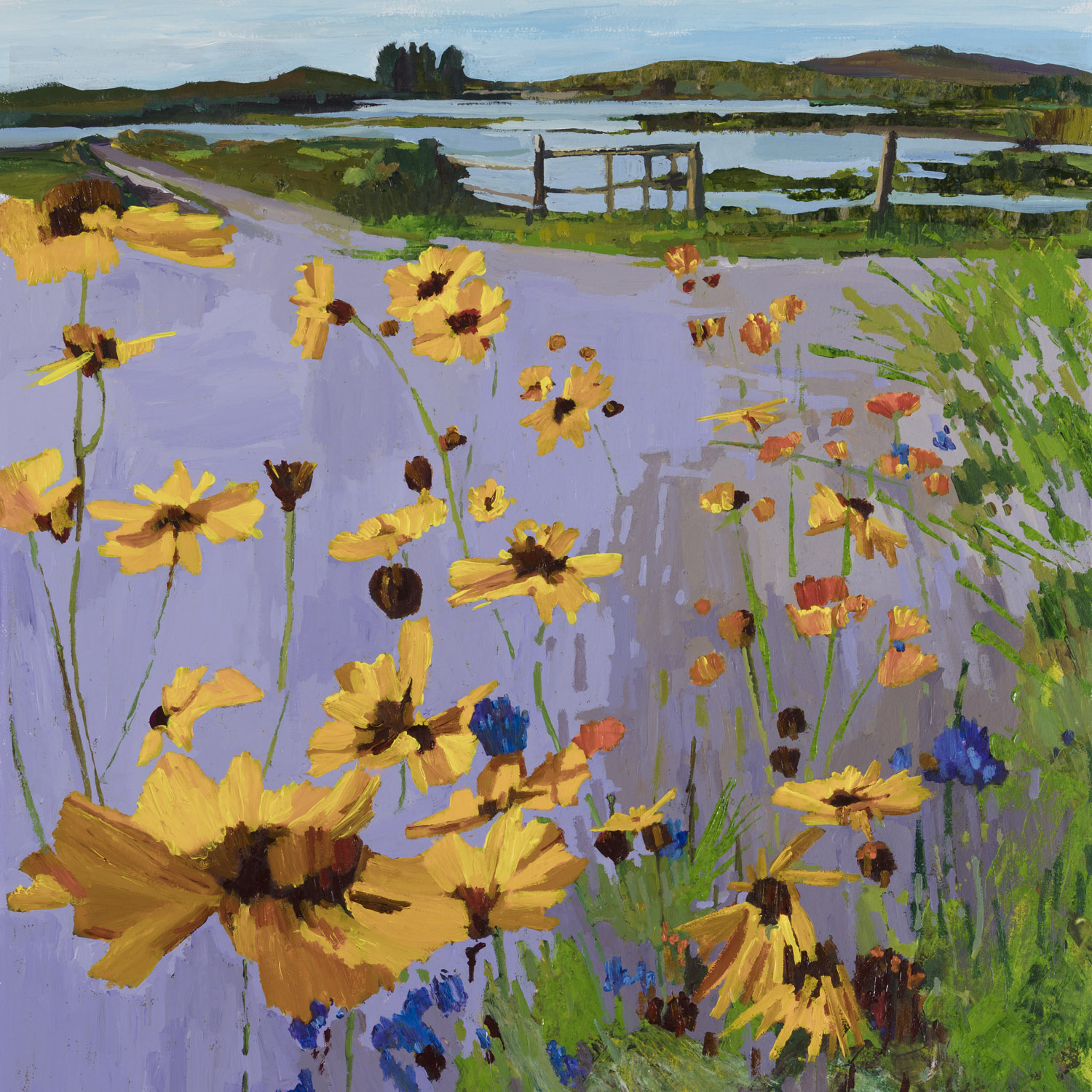 Flooded Fields West Along, 55x64cm.jpg