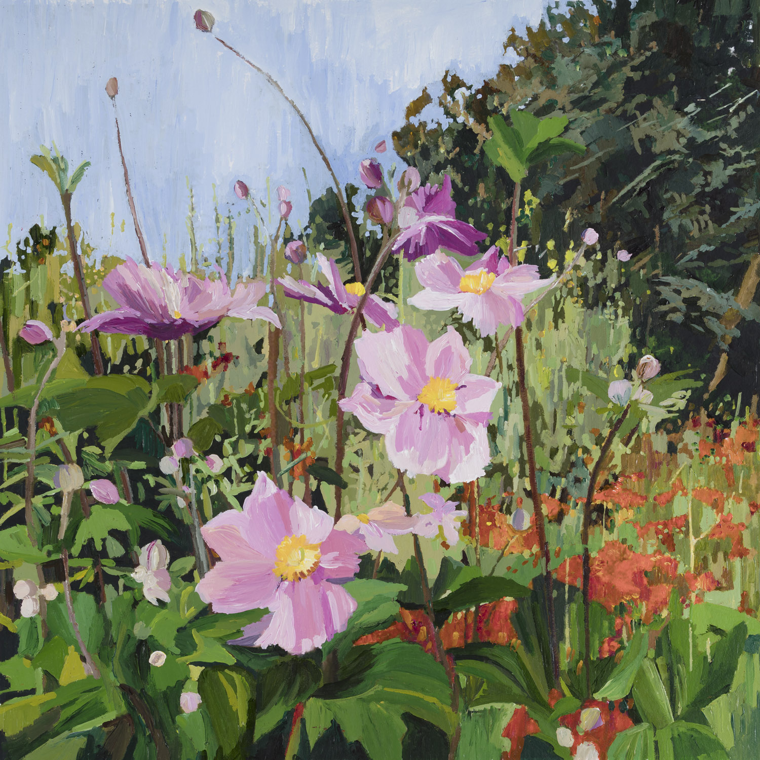 Late Summer, Mixed Border, 55x64cm.jpg