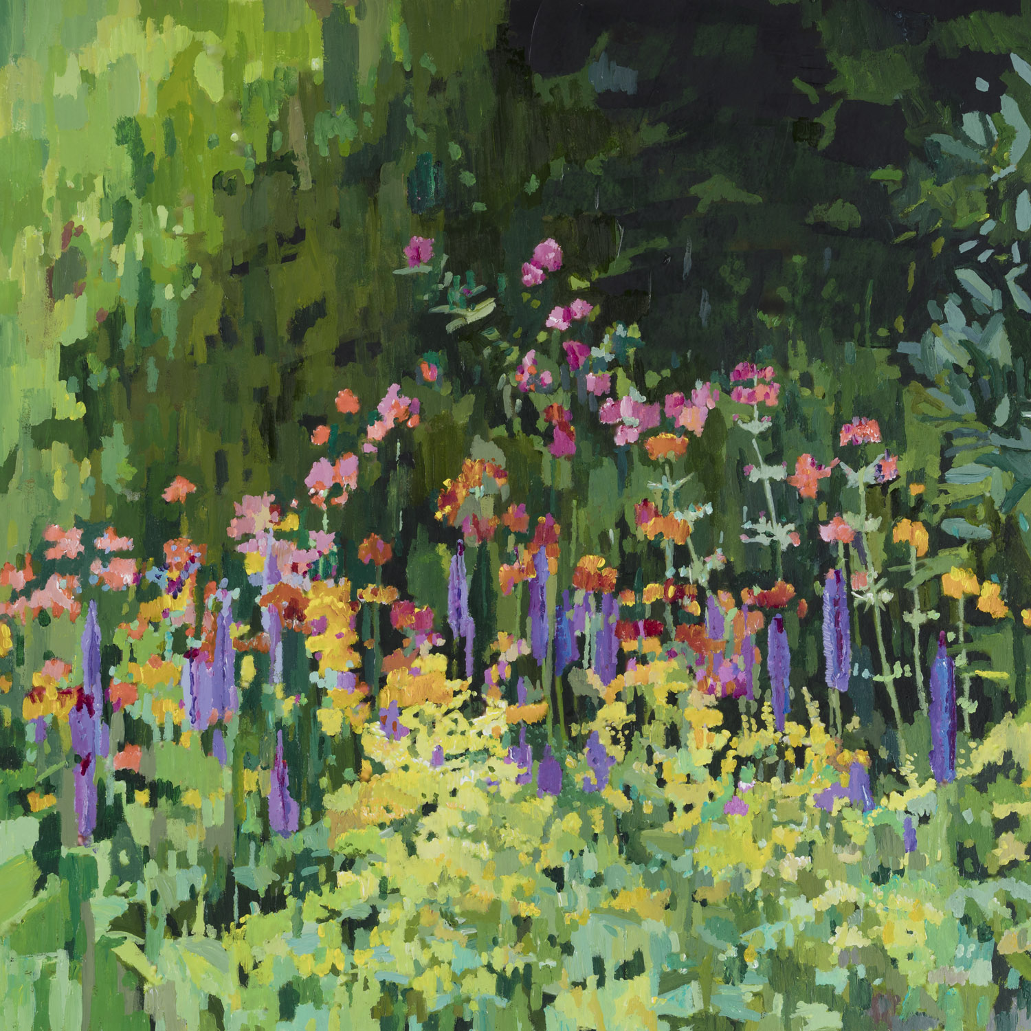 Primulas and Ladie's Mantle, 55x64cm.jpg