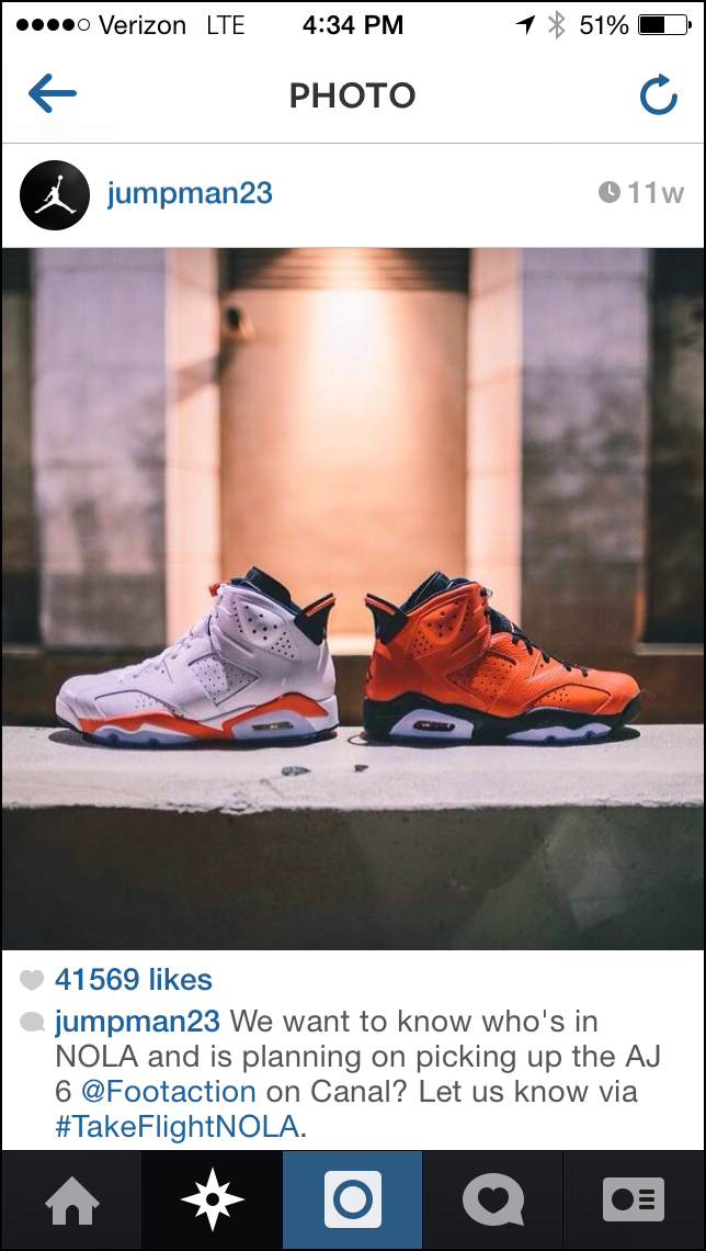 Air Jordan Instagram Feed