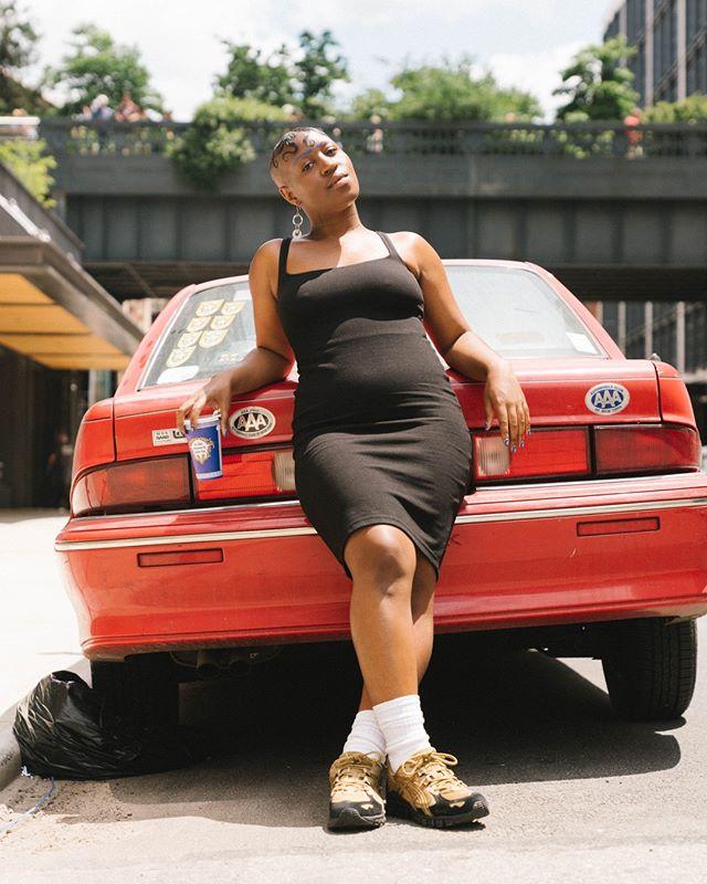 @theresachromati shot outside her show at @kravetswehbygallery for @tmagazine