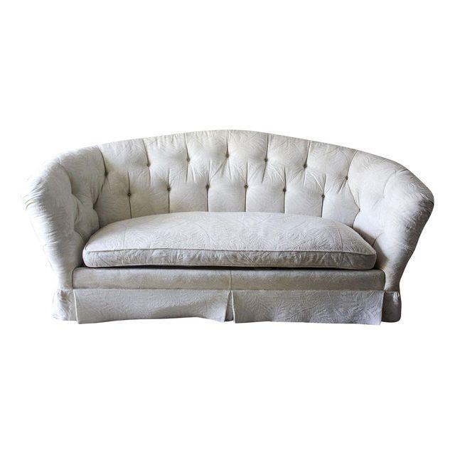 Baker Furniture Hollywood Regency Tufted Sofa