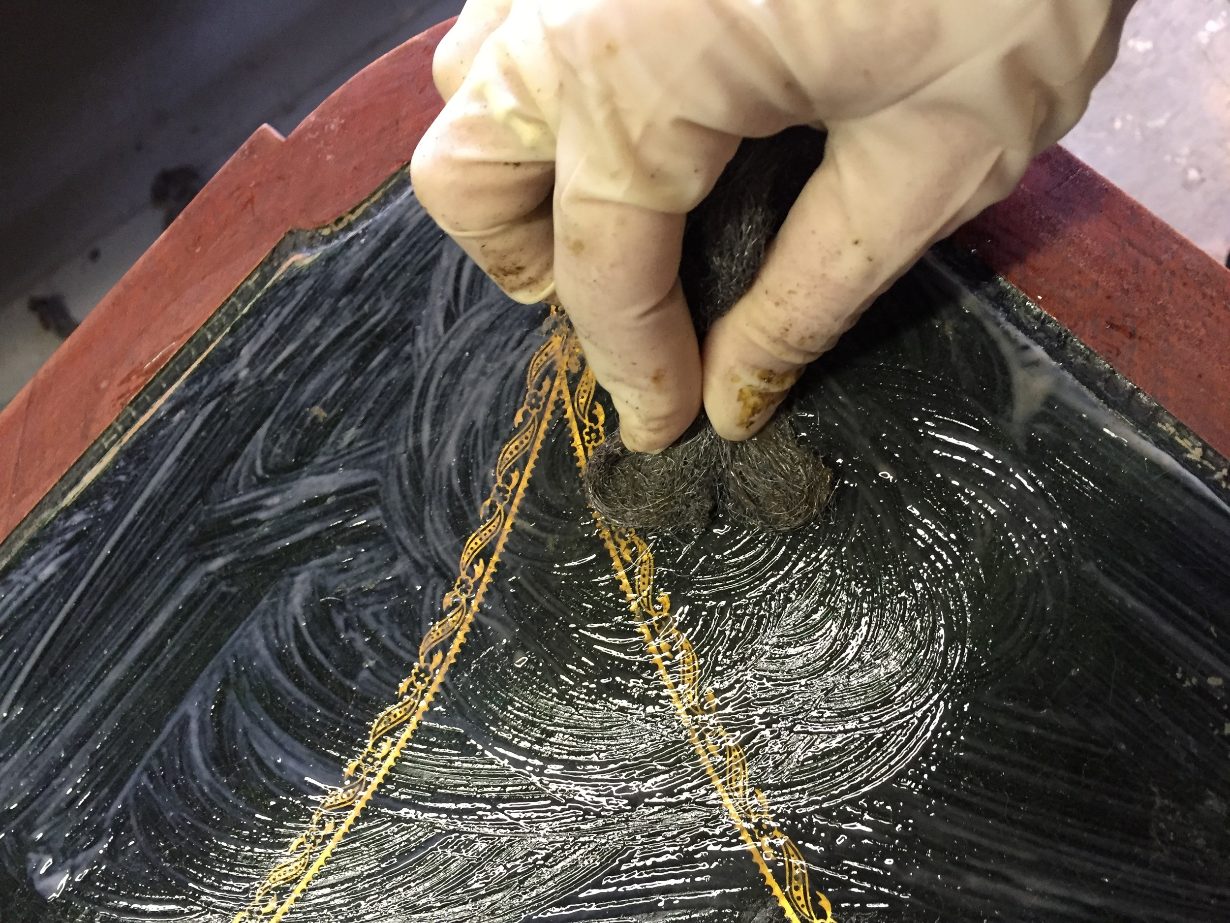 leather cleaner and steel wool