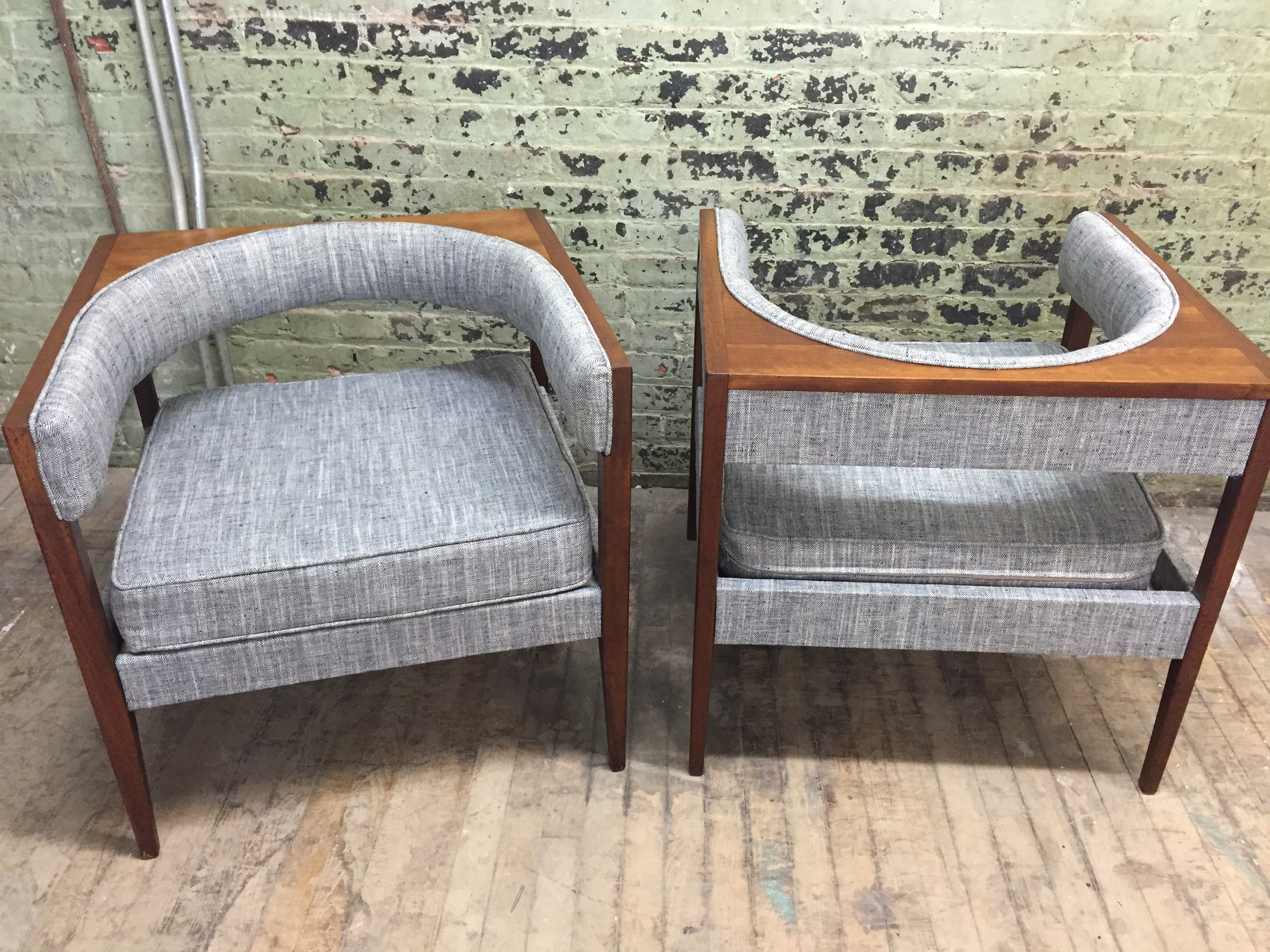 Danish Modern Chairs in West Elm fabric