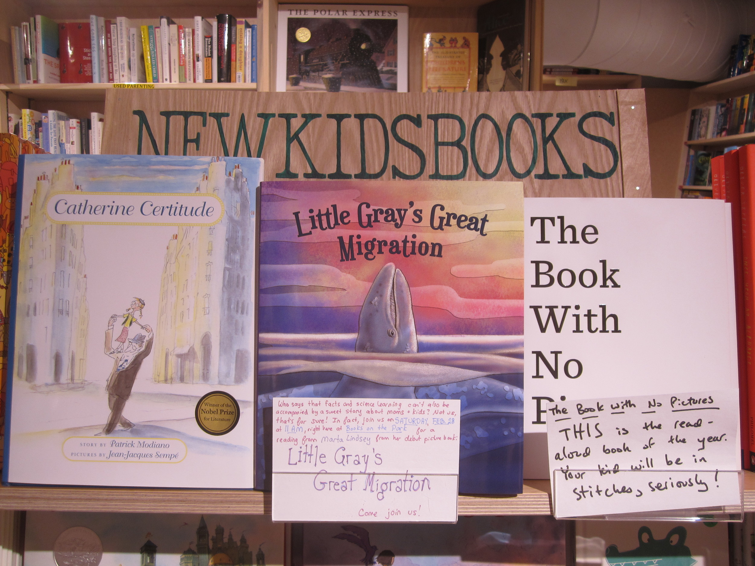 Little Gray's Great Migration on the shelves at  Green Apple Books on the Park .