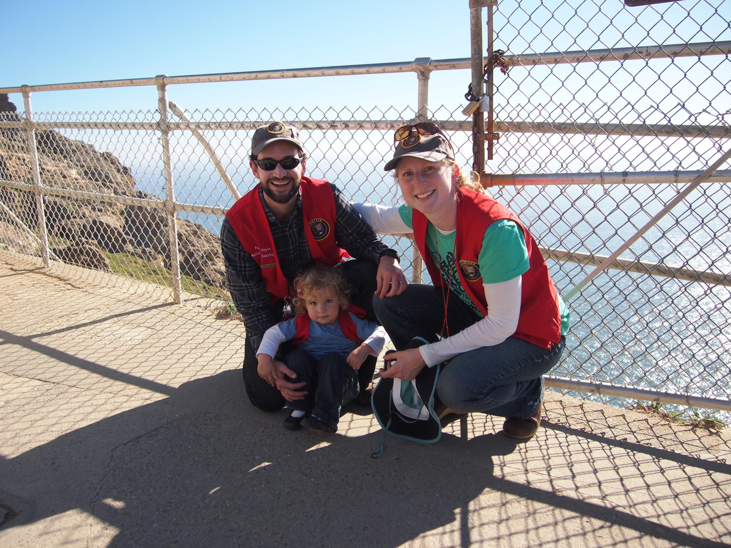 Marta and her family at the Point Reyes Lighthouse Overlook, a great location for spotting migrating gray whales. Marta is also a volunteer in Point Reyes National Seashore.