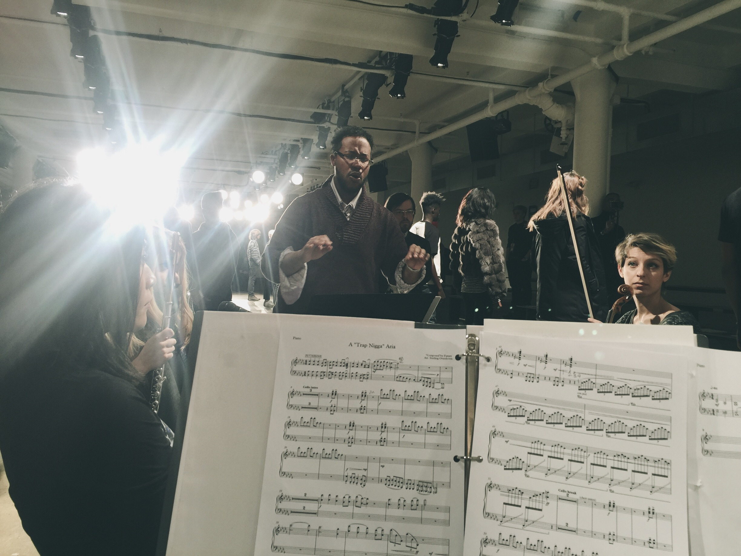 Sitzprobe, Sterling Overshown conducting