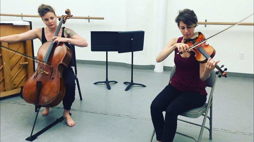 "Jillian Blythe and Marina Kifferstein rehearse ""Potential Energies"""