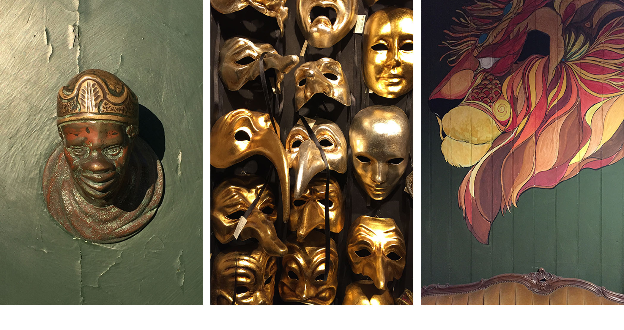 Venetian masks and a memory of the Morish past