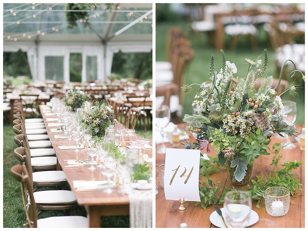 rustic farm table wedding in new england