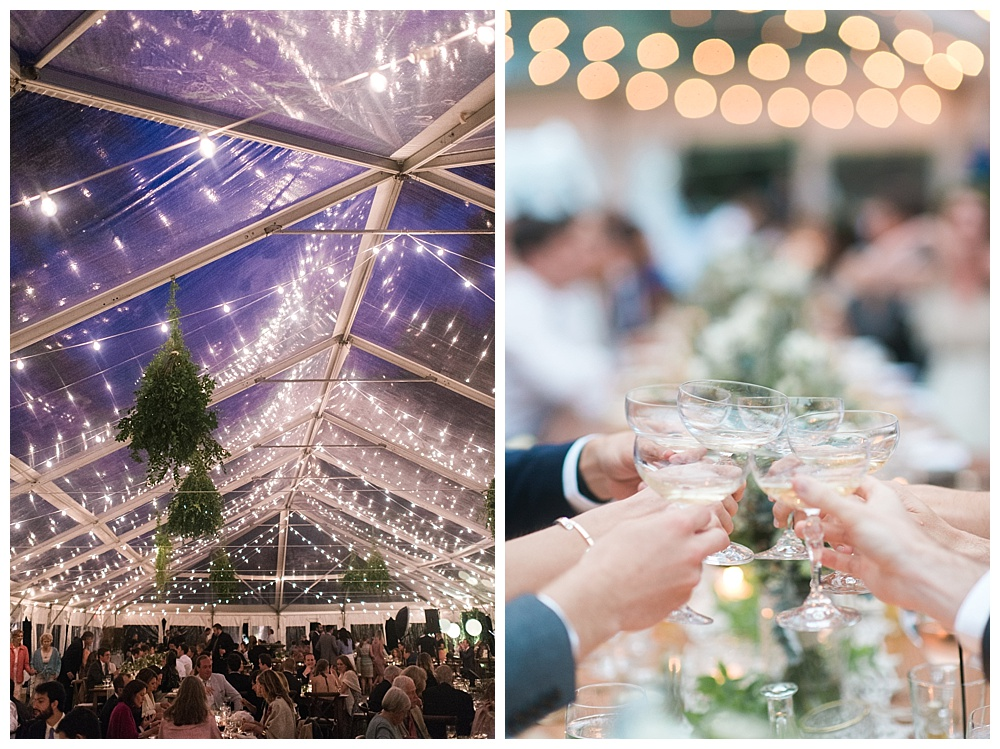 luxury clear top tent boston wedding