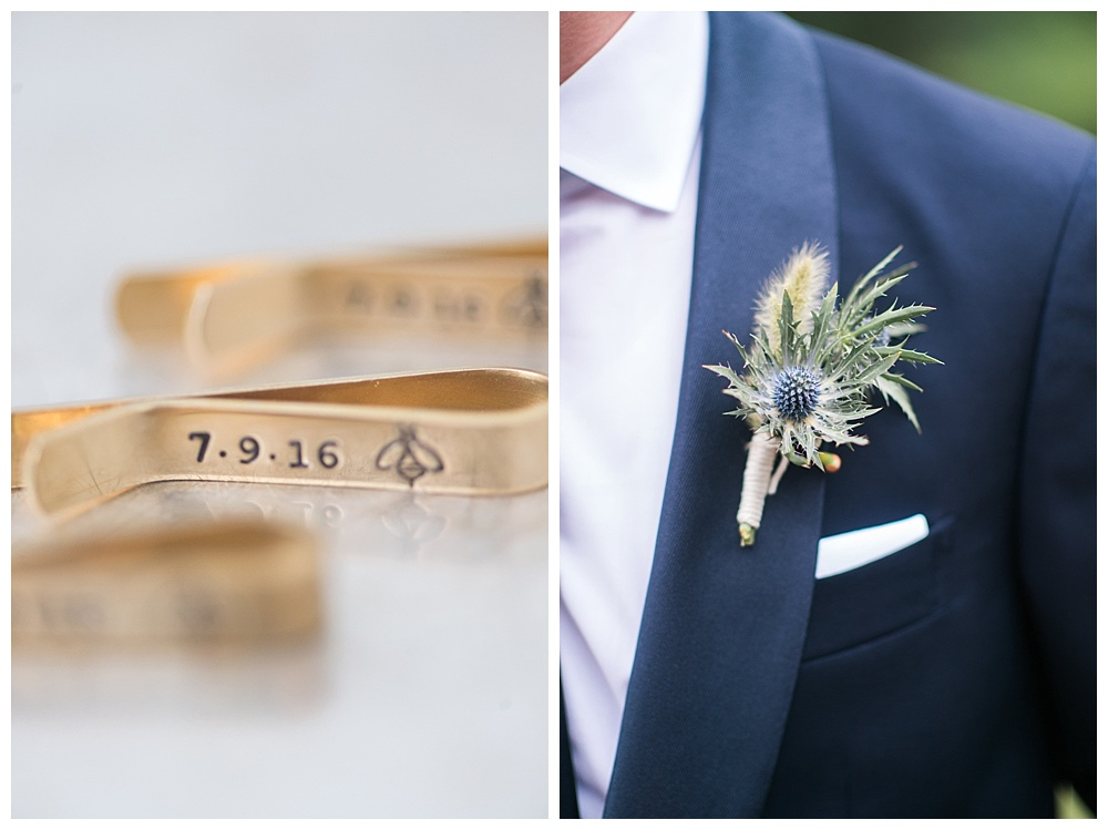 navy blue suits with gold custom tie clips