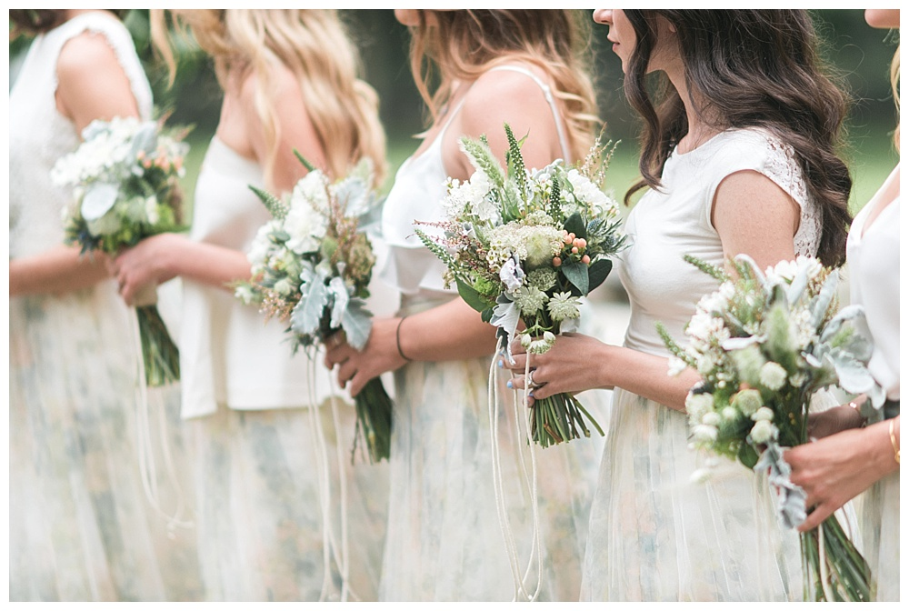 mismatched jenny yoo bridesmaids boho chic luxury wedding