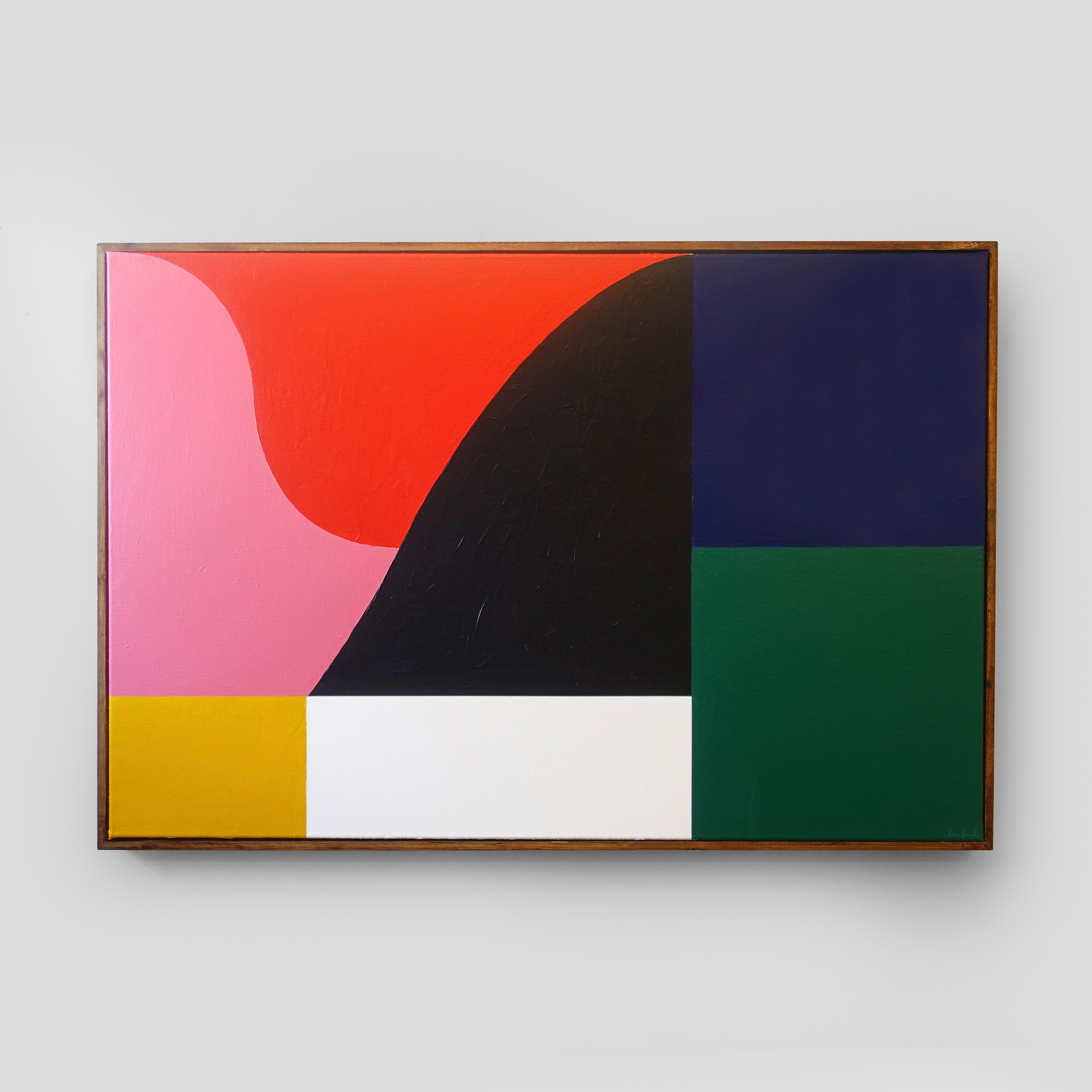 3 x 4 Composition No. 4   120 x 80 cm | acrylic on linen, pine frame | 2018
