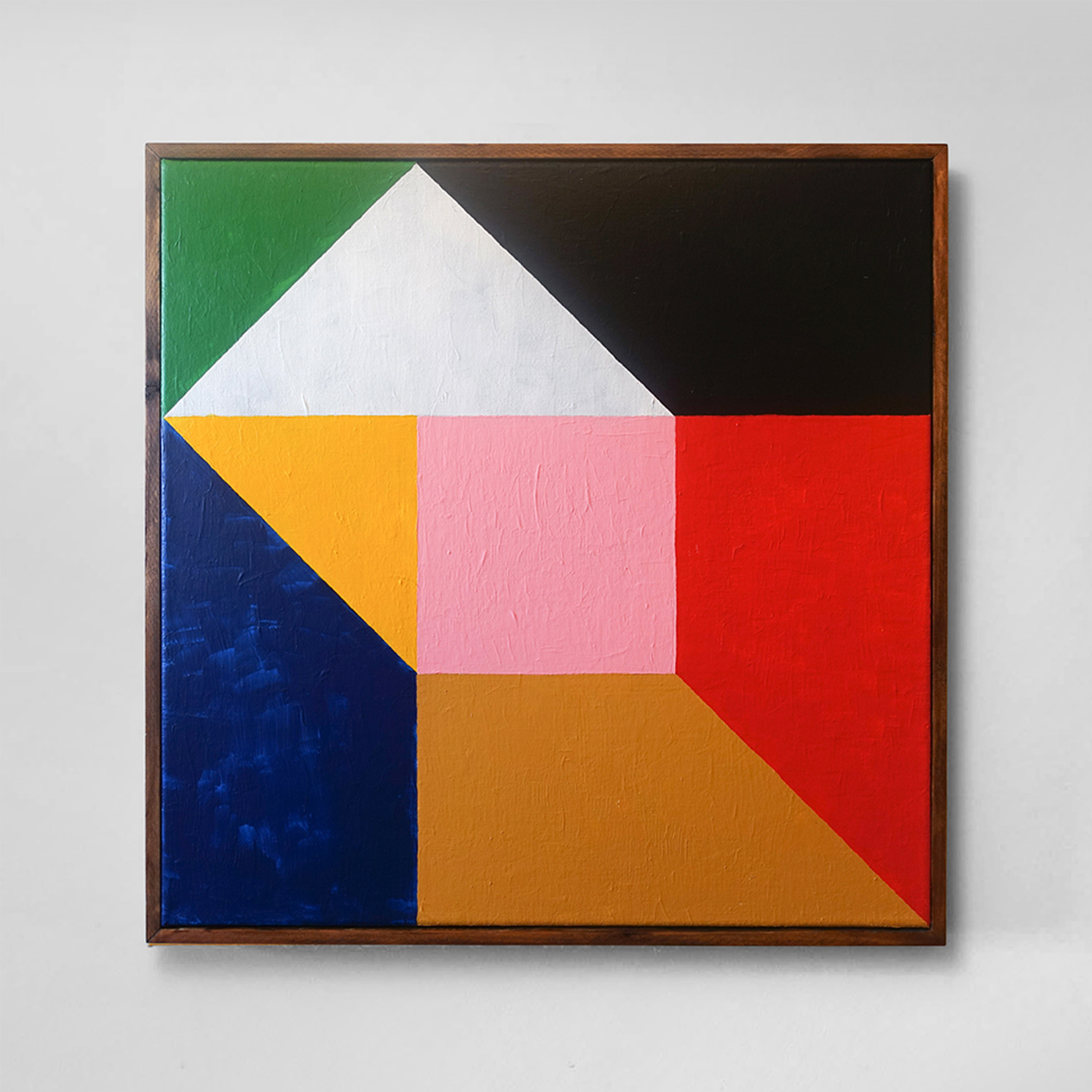 Square Composition No. 7  60 x 60 cm | acrylic on linen, pine frame | 2018