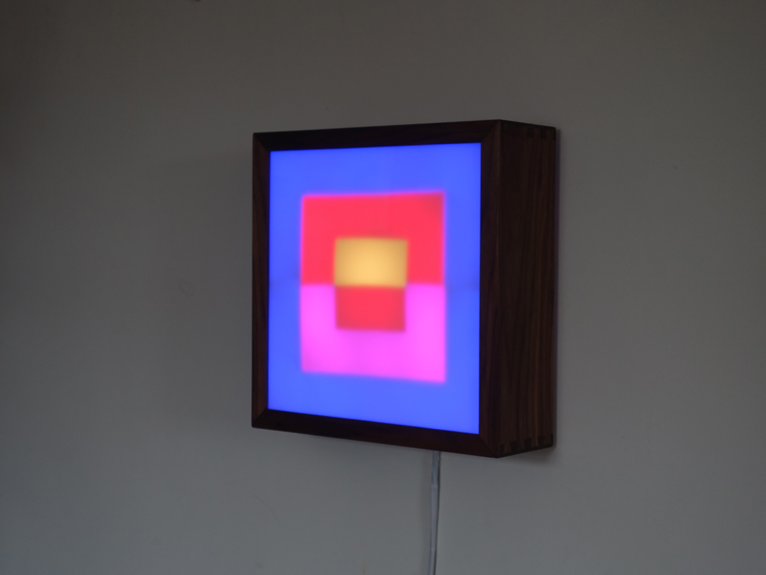 Copy of Square LED Lightbox prototype 1 of 5