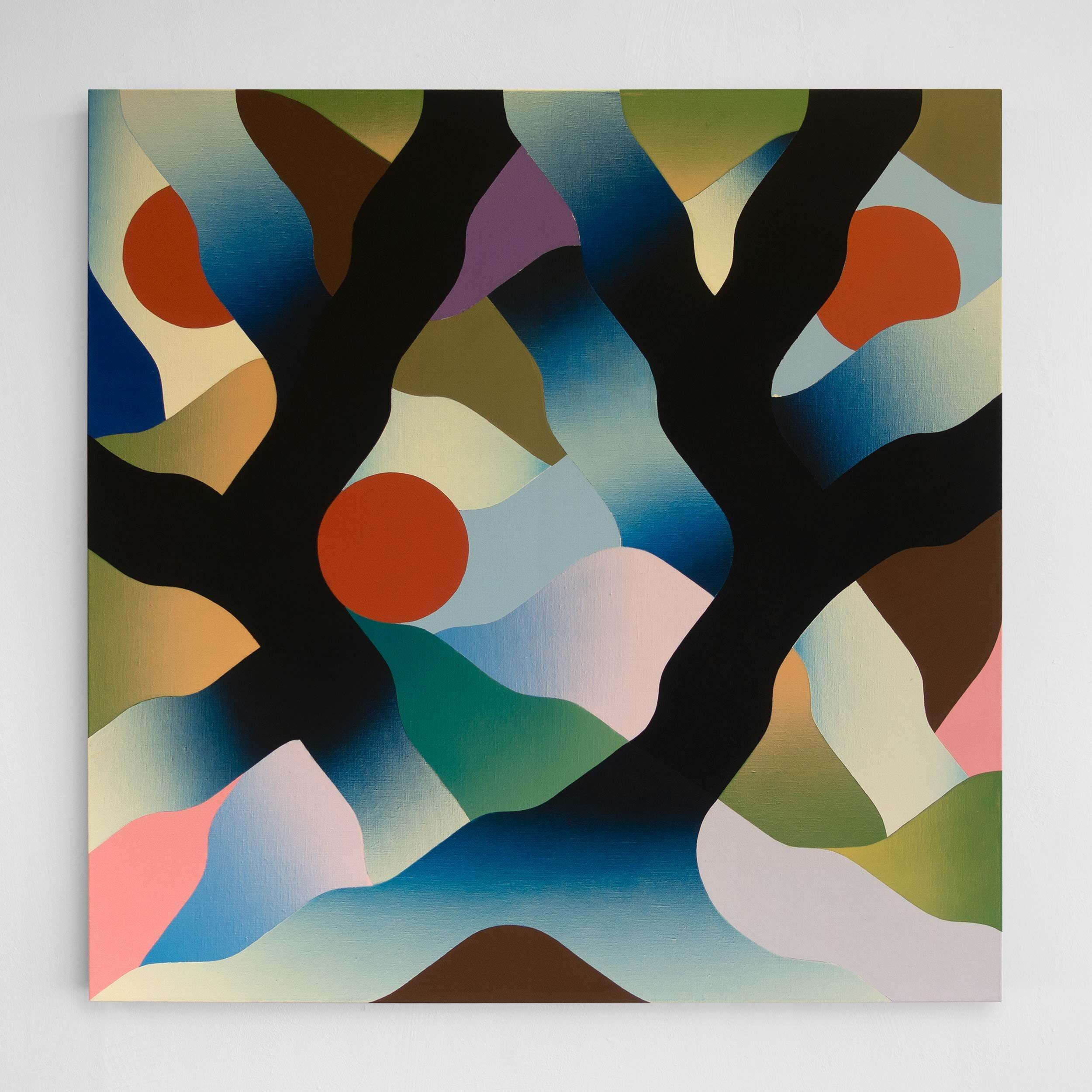 Liana  97 x 97 cm | acrylic & airbrush on linen | 2019