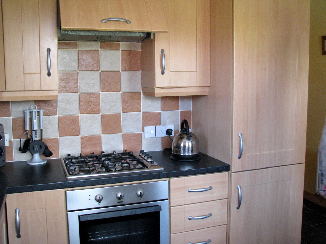 """the """"integrated"""" kitchen in our house in Meath"""