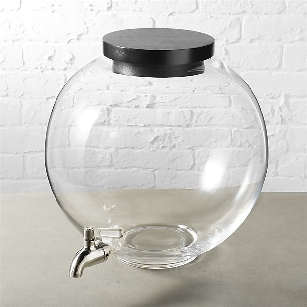 It would be pretty funny to mix up a batch of gin and tonics and then pour it into this  gorgeous beverage dispenser  and drop in a fake goldfish. I really shouldn't host any parties, should I.