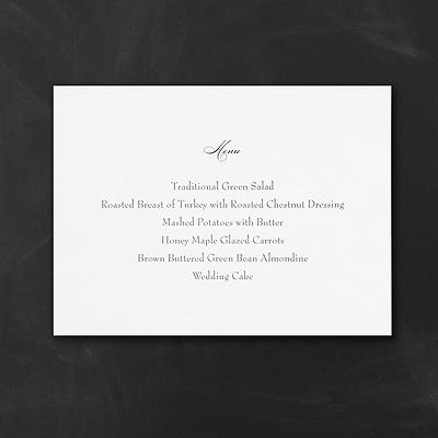 Simplicity Horizontal Menu Card - Ecru $84.90 Per 100