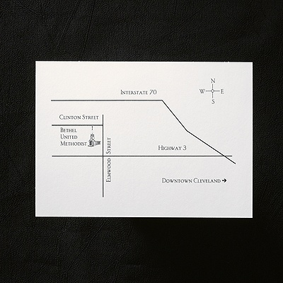 "White Horizontal Map Card $53.00 per 100   4 7/8"" x 3 1/2"" Card"