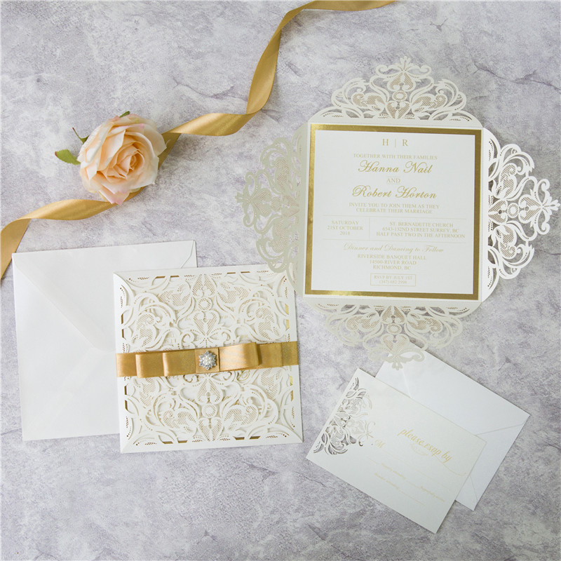 Luxurious Lace - Ivory Shimmer