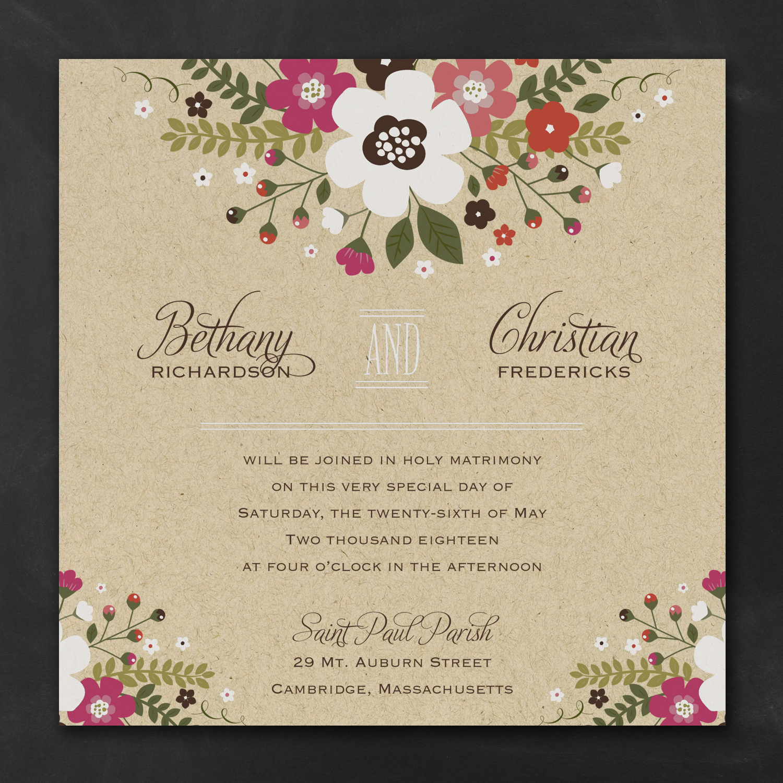 Charming Posies Invitation
