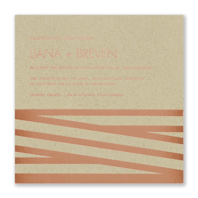 New Stripes - Invitation - Kraft