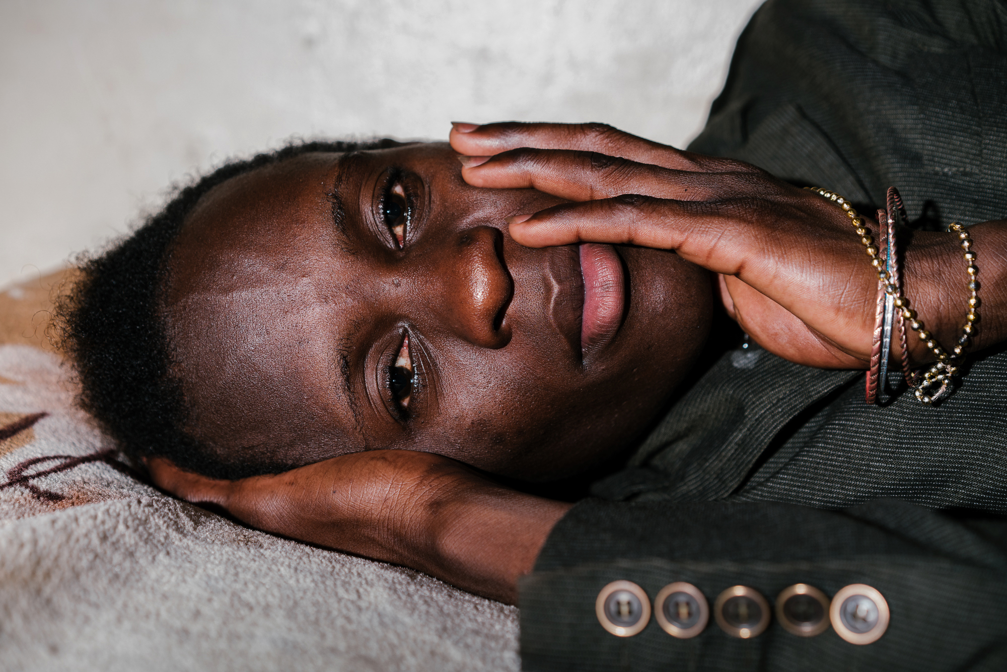 Shamim, 19, a transwoman, poses for a portrait at Ice Breakers Uganda, an LGBT health-services organization, where she has been staying for the past four months. Previously, she was arrested, beaten and harassed by police, angry mobs and her family on three separate occasions.