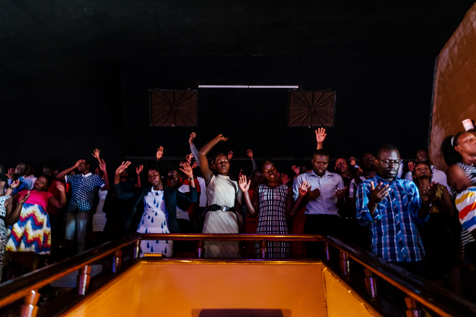 A Sunday service at Watoto church, an English speaking Pentecostal church, in downtown Kampala. Activists say Watoto, led by American pastor Gary Skinner, has been instrumental in spreading homophobia, including through hosting American evangelical Scott Lively.