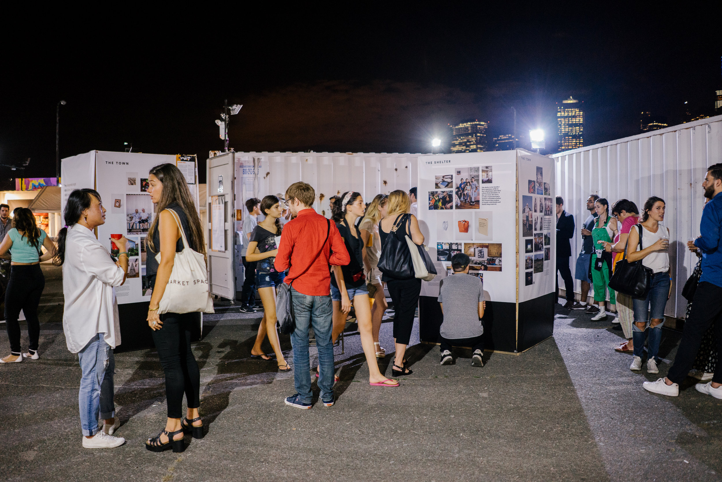 The Welcome to Dilley installation at Photoville, as seen on opening night.