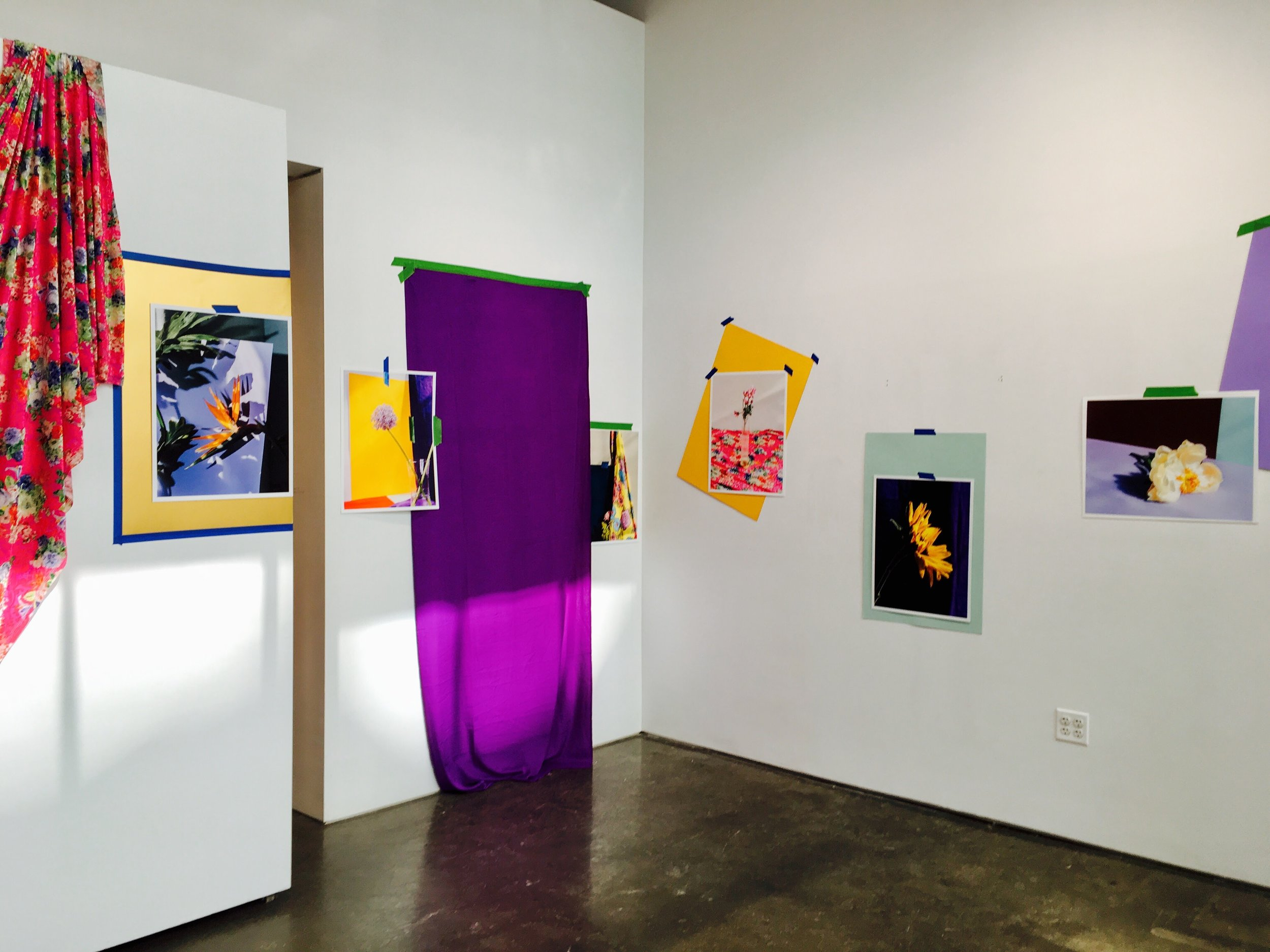 """Images of the pop-up installation of """"Flowers,"""" where I proposed to Juan."""