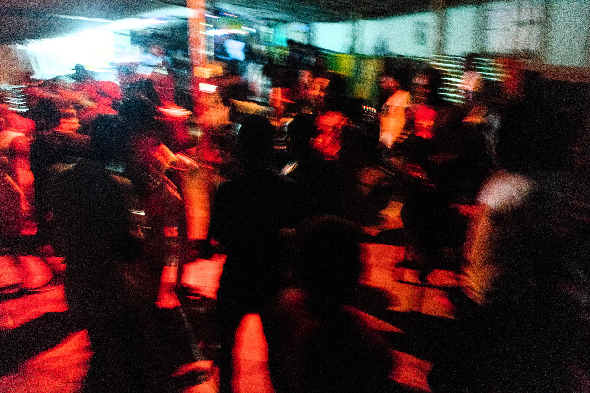 The dance floor at Ram, a bar in Kampala which hosts LGBTQ nights on Sundays and has become the de facto gay bar in the city. It was the only openly LGBTQ space in the country, but it was shut down a few months after this photo was taken, leaving the LGBTQ community there without a dedicated bar where they can go out and be themselves.