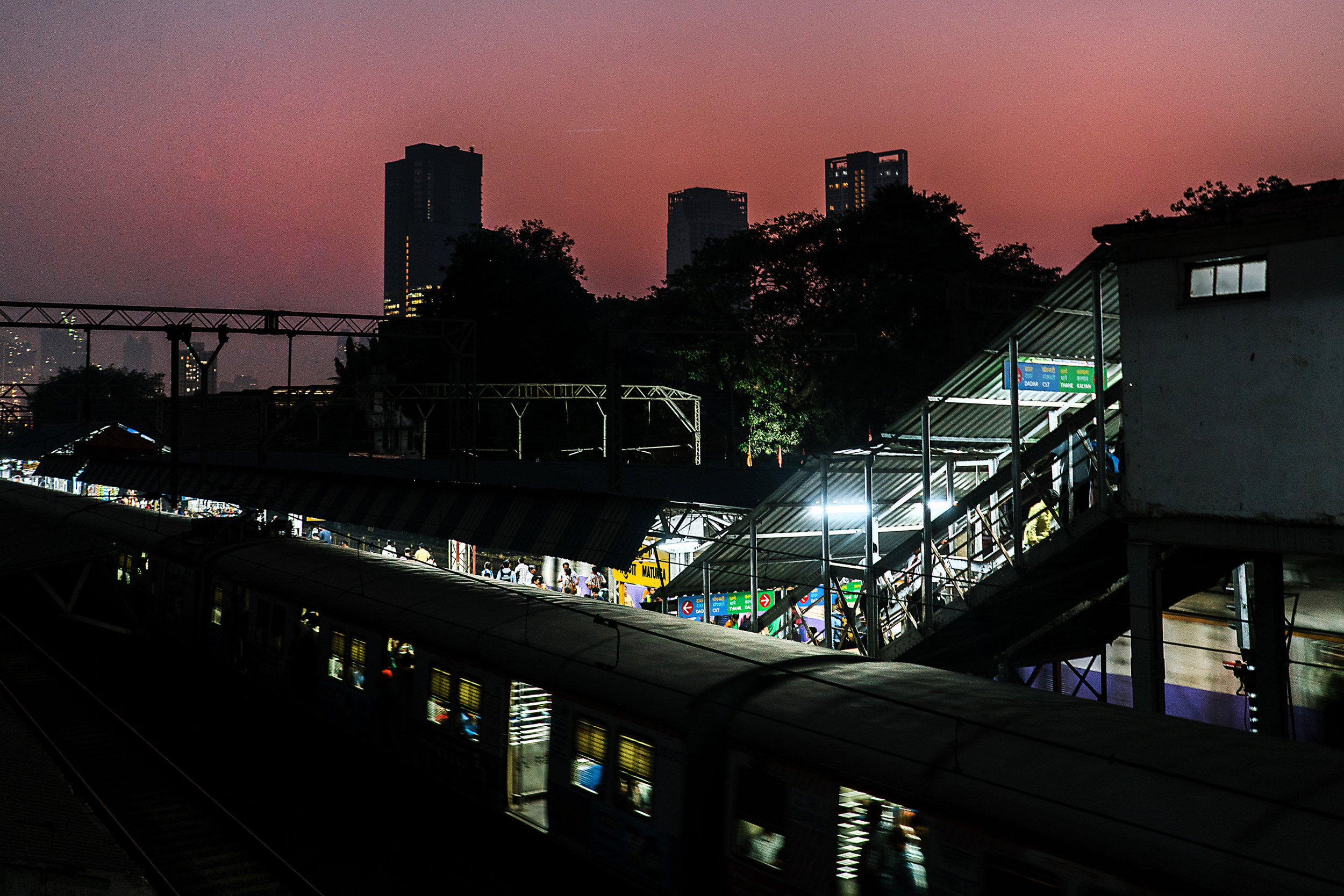 The Matunga Central Railway station on the Mumbai Suburban Rail network, also known as the Mumbai local trains. The trains and their environs are a popular cruising spot for gay men. They were the setting for Faraz Arif Ansari's short film Sisak, which charts an intense encounter between two gay men.