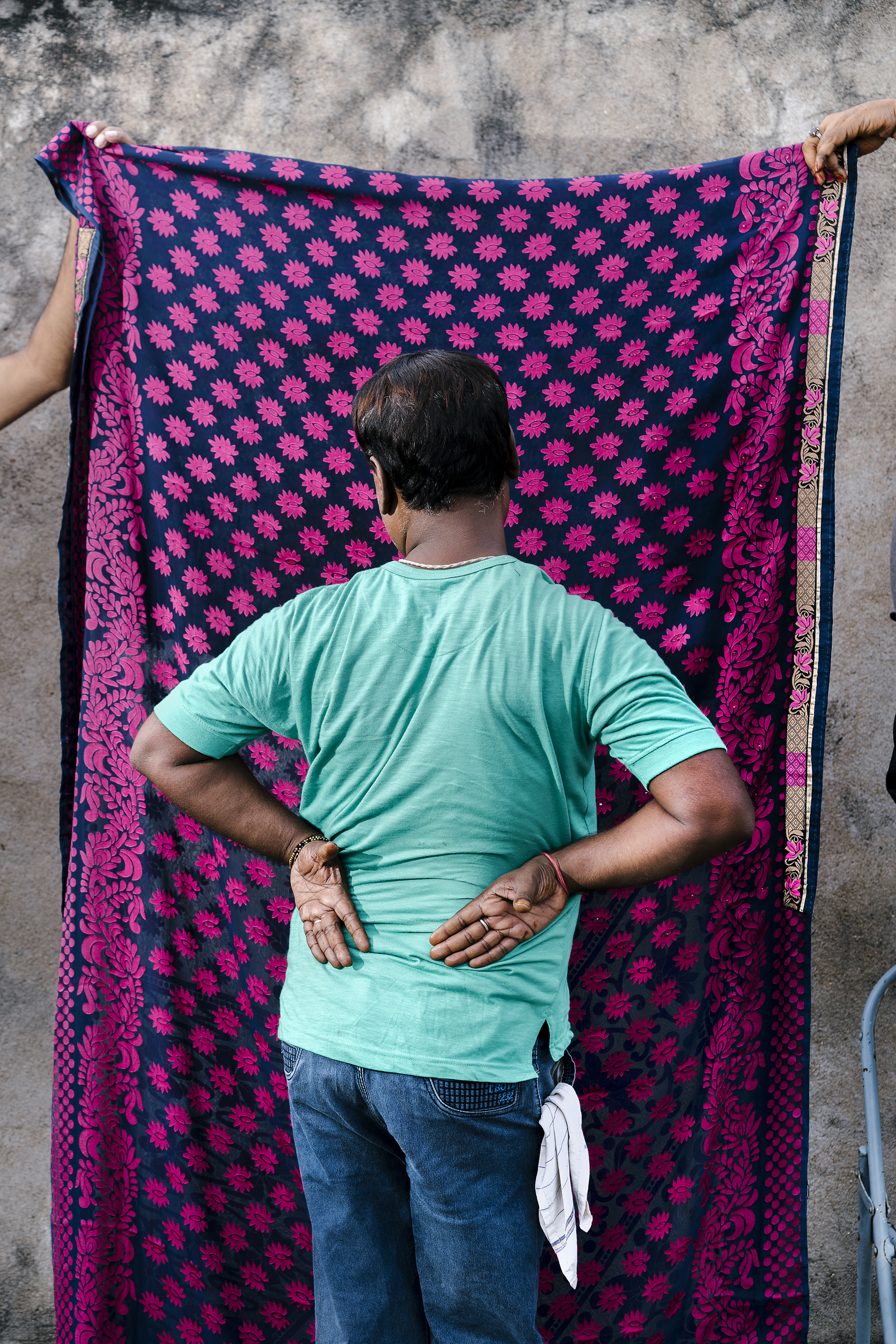 A gay man from the city of Patna poses for a portrait. He is not out, so he preferred to hide his identity.