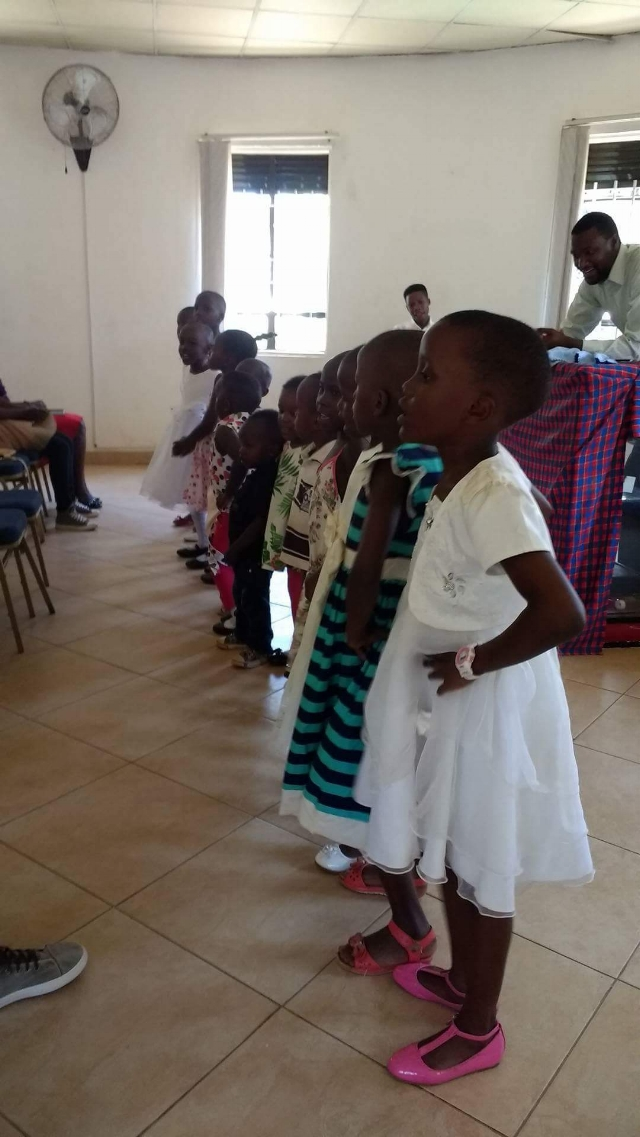 Children singing for the assembly