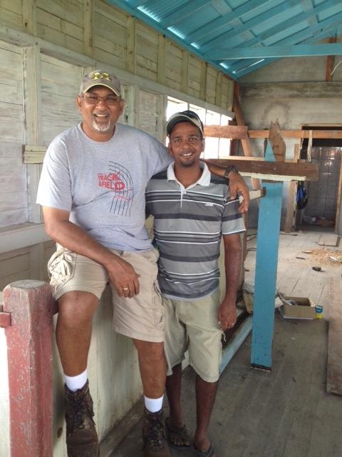 Andy & Pastor Steve upstairs.JPG