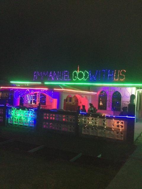 Christmas message in Lights!.JPG