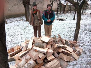 Helping people with firewood