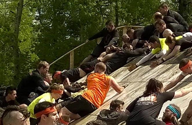 Tough Mudder Pyramid Scheme Teamwork