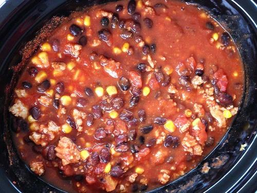 turkey chili in crockpot