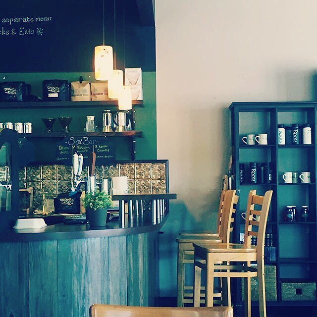 Love this photo of our shop by @dr.christeldc #rootscoffeehouse #saturdaymorningvibes #craftcoffee #coffeebreak