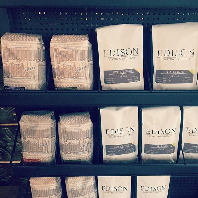 #TGIF and we've got a full retail shelf for your weekend from @edisonroasting & @commonwealthcoffee #craftcoffee #friday #weekend #wholebean