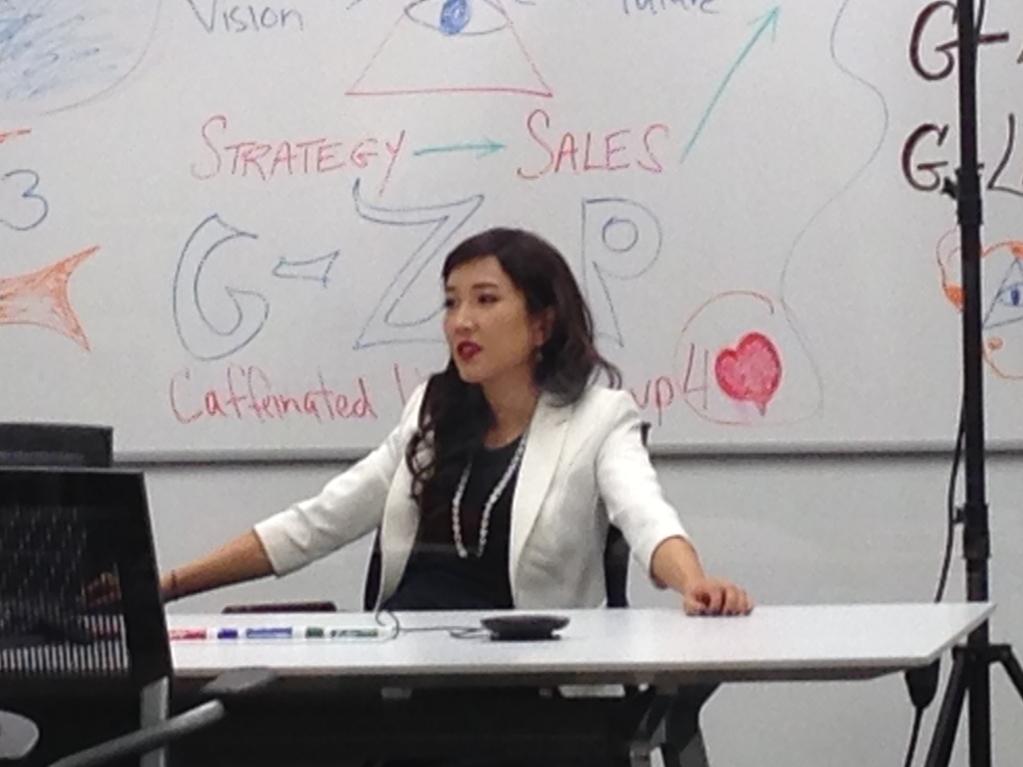 """Natalie Kim as Gemma's boss, """"Karen"""""""