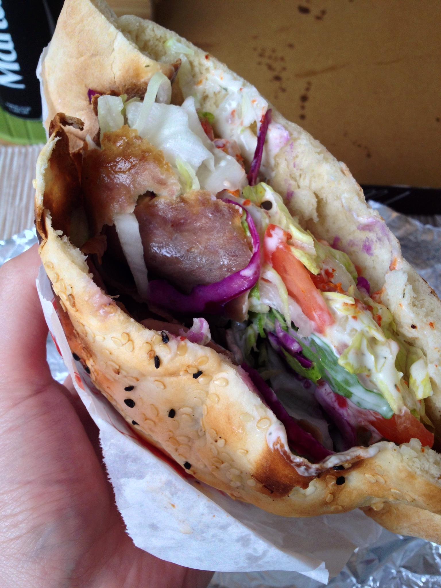 My favorite döner kebab at Nur Kebap & Pizza.