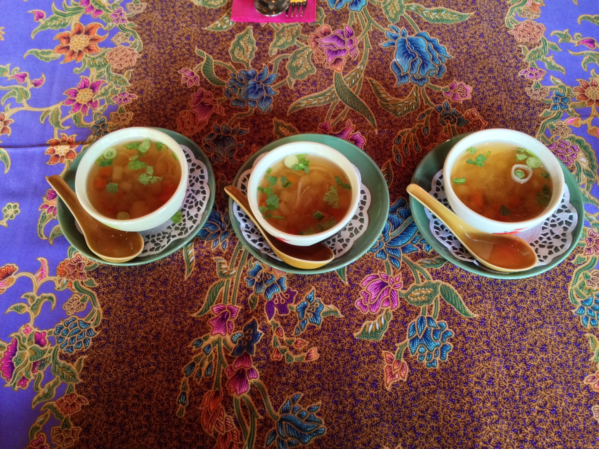 Three cups of soup
