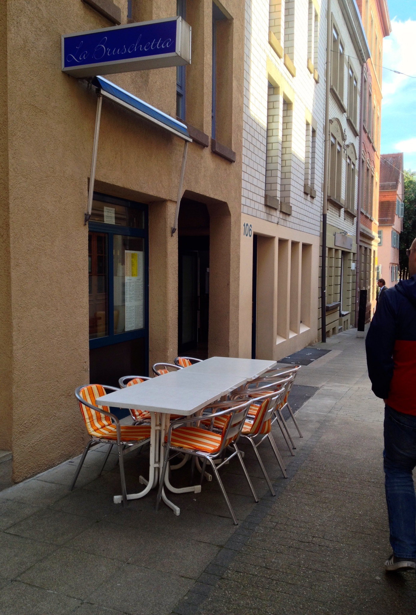 La Bruschetta has a very unassuming restaurant front down a side street.