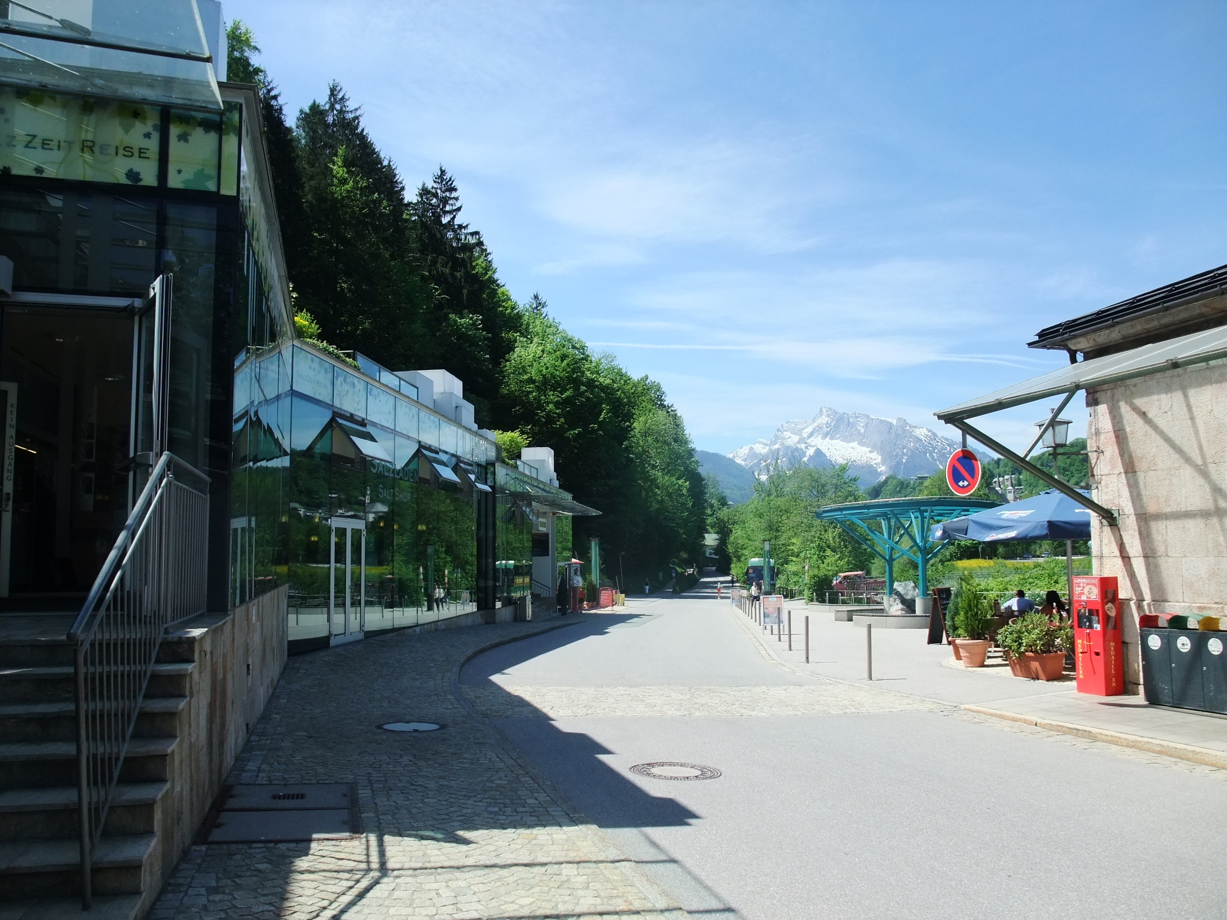 Berchtesgaden Salt Mine with the Alps in the background