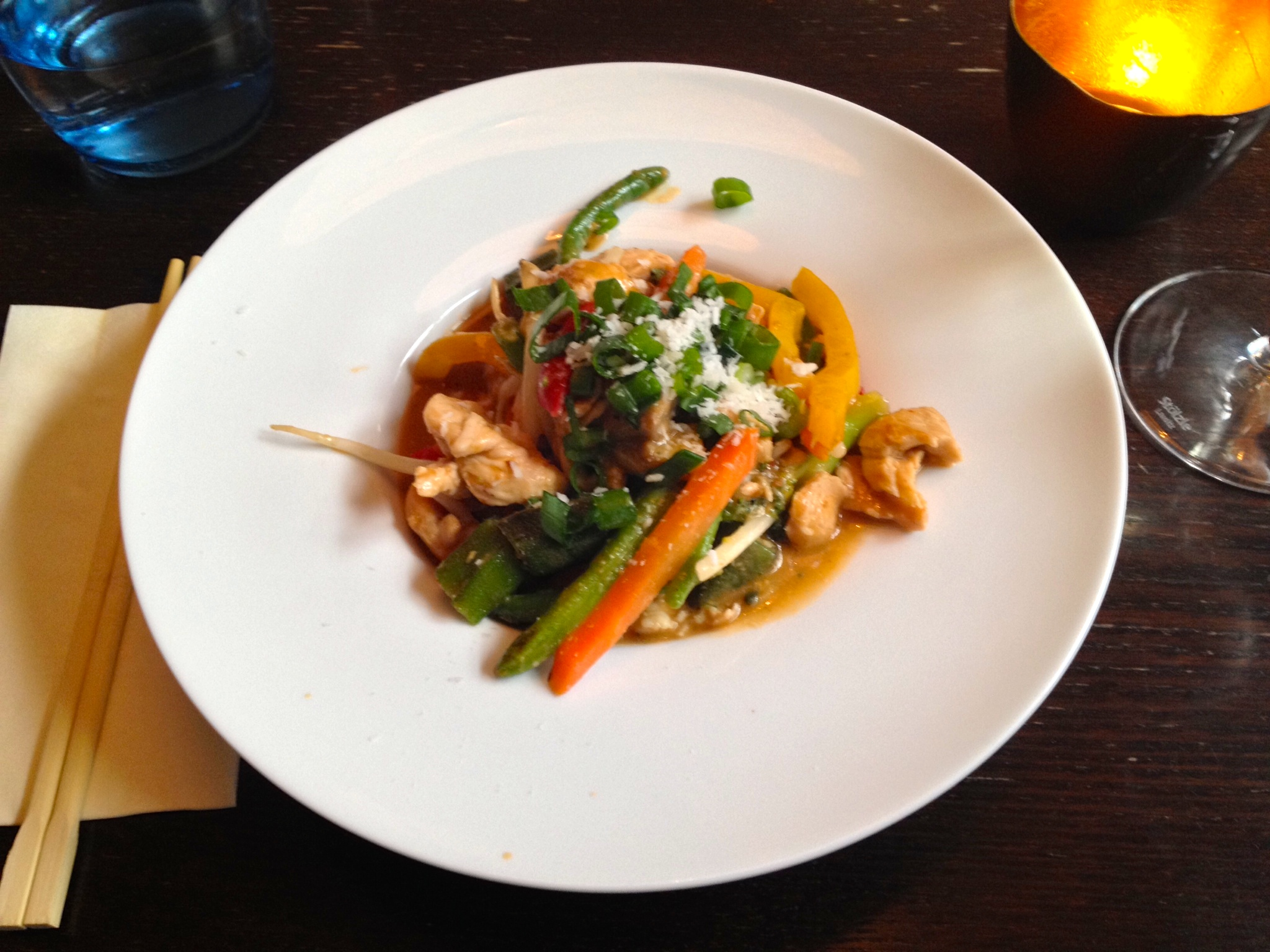 Chicken with vegetables in a peanut sauce