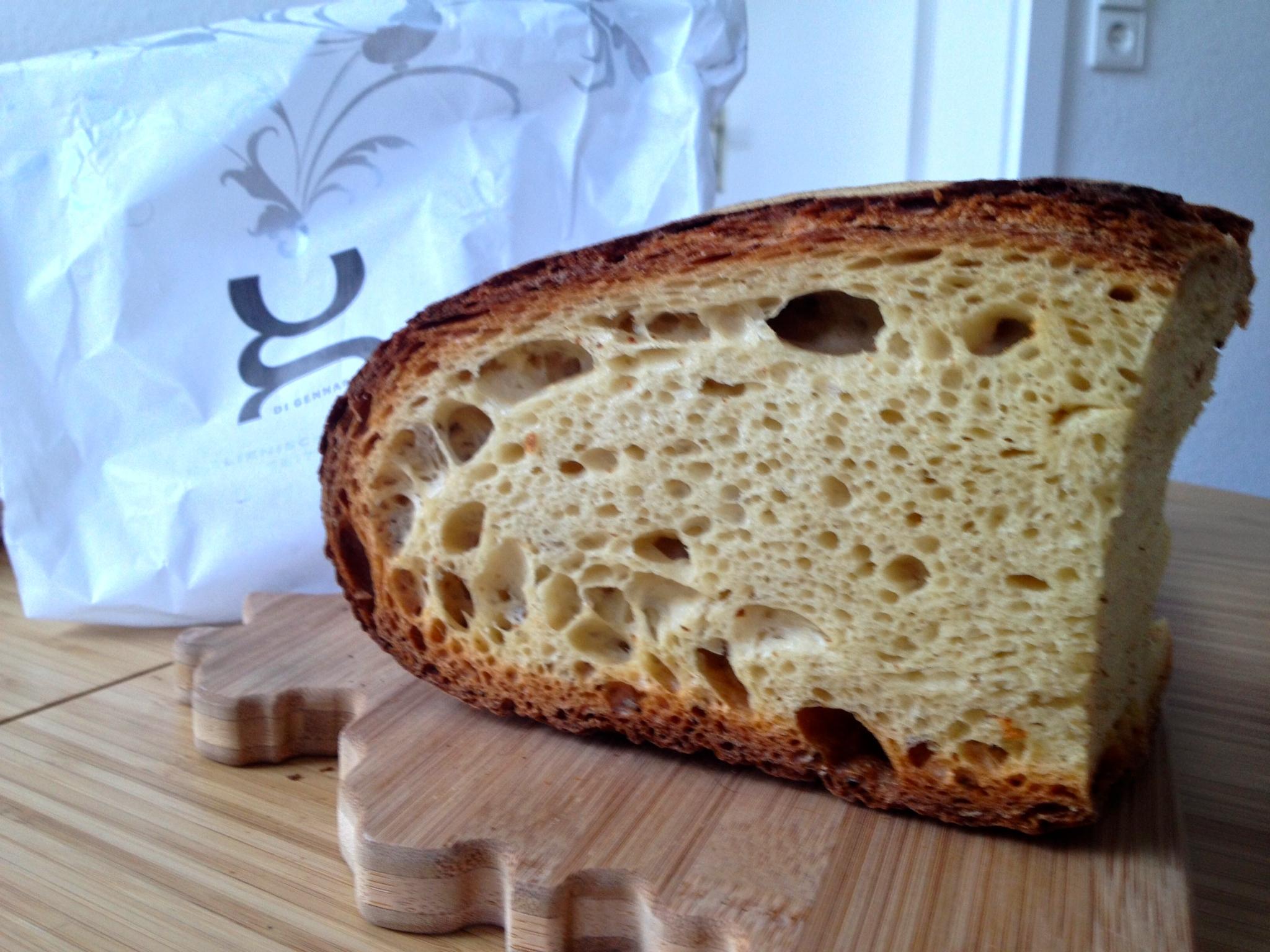 Fresh bread at Di Gennaro